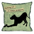 Finding Joy In Simple Pleasures Dog Theme Throw Pillow
