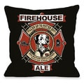 Firehouse Ale Throw Pillow