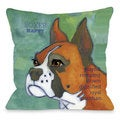 Boxer 1 Throw Pillow