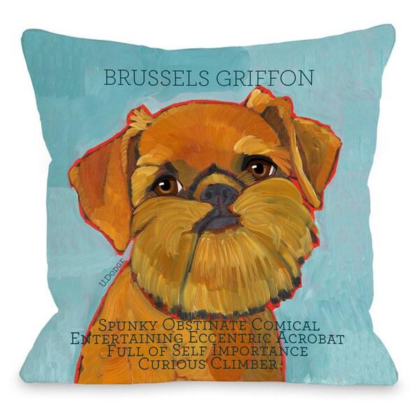 Brussels Griffon1 Throw Pillow