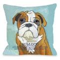 Bulldog 1 Throw Pillow