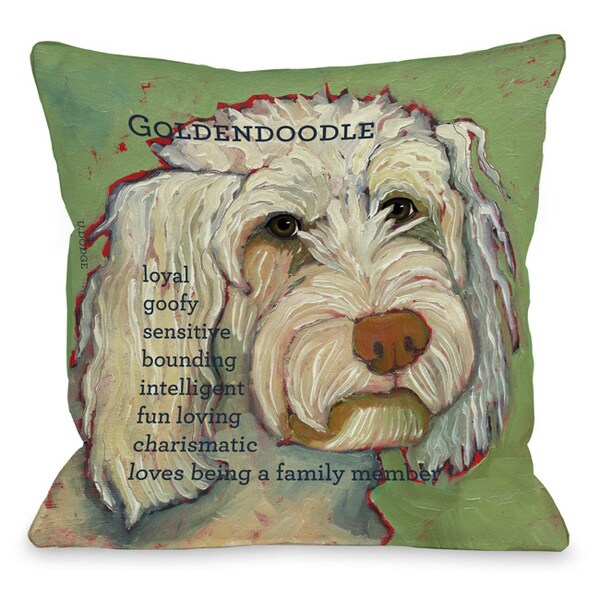 Throw Pillow Home Is Where The Doodle Is : Golden Doodle Throw Pillow - 15736390 - Overstock.com Shopping - Great Deals on Throw Pillows