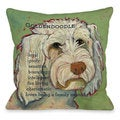 Golden Doodle Throw Pillow
