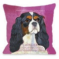 Cavalier Dog Design Throw Pillow