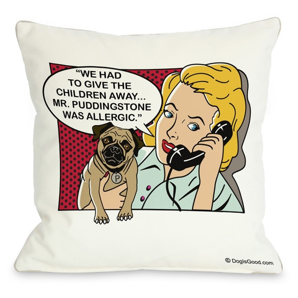 Had to give the kids away Un-Framed Throw Pillow