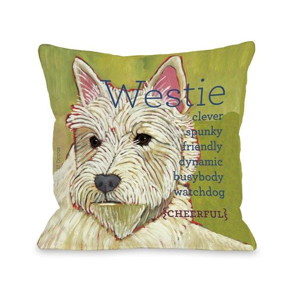 Westie Dog Themed Throw Pillow