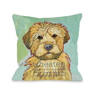 Wheaten Dog Throw Pillow