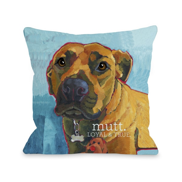Mutt 3 Throw Pillow