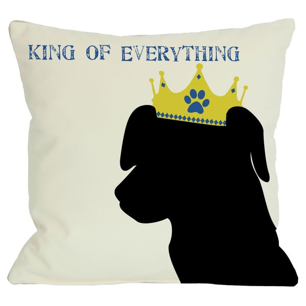 King of Everything Lab Throw Pillow