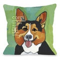 Square Corgi Dog Decorative Throw Pillow