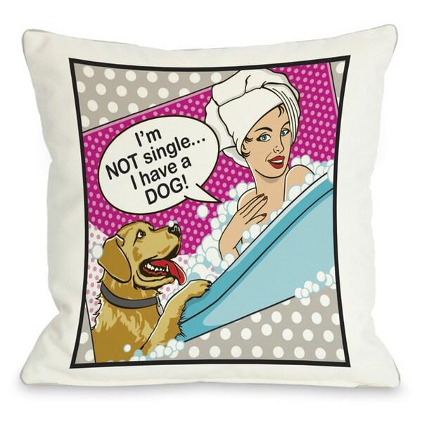 Not Single Throw Pillow