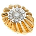 14k Yellow Gold 1ct TDW Diamond Starburst Estate Pendant (G-H,VS1-VS2)