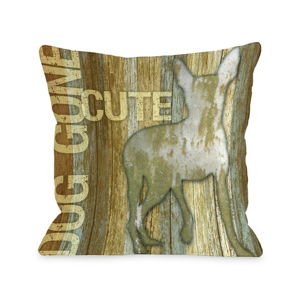 Dog Gone Cute Decorative Throw Pillow
