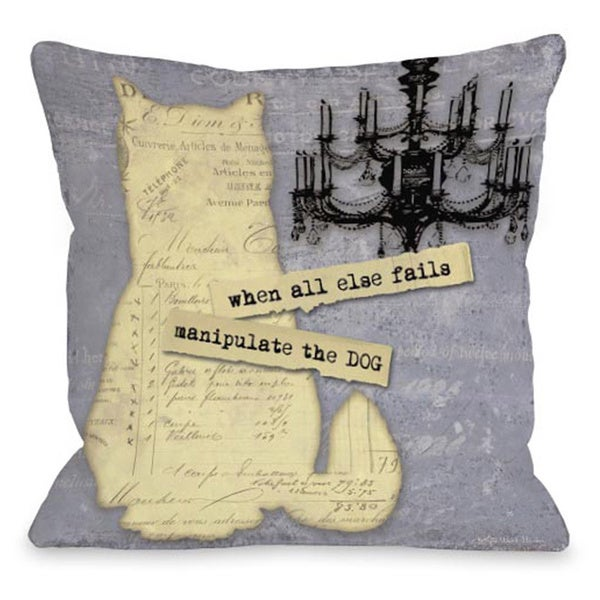 Manipulate the Dog Throw Pillow