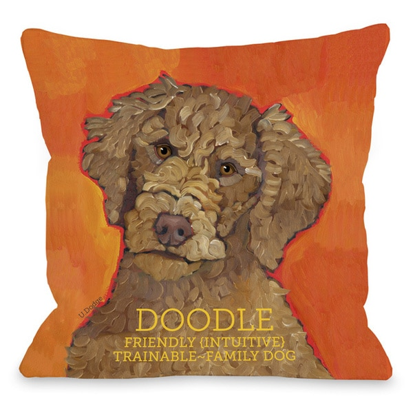 Throw Pillow Home Is Where The Doodle Is : Doodle 2 Throw Pillow - 15736485 - Overstock.com Shopping - Great Deals on Throw Pillows