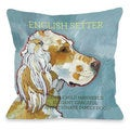 English Setter 1 Throw Pillow