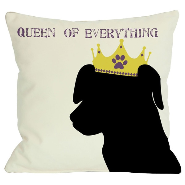 Queen of Everything Lab Throw Pillow