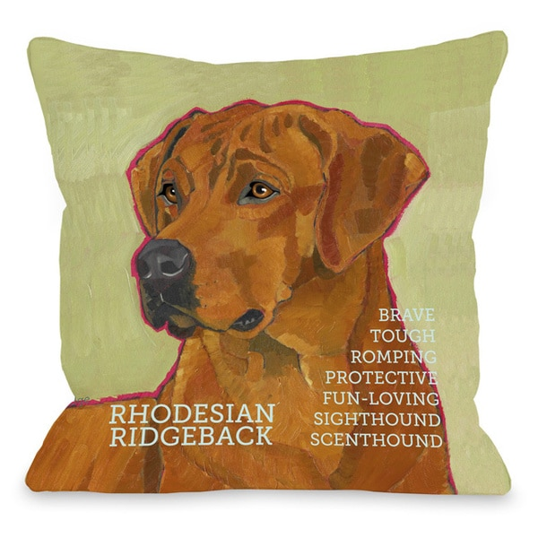 Rodesian Ridgeback Dog Throw Pillow