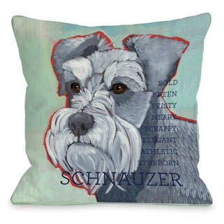Schnauzer Dog Throw Pillow