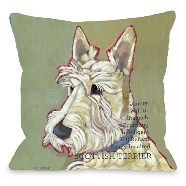 Scottish Terrier Dog Throw Pillow