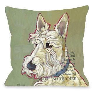 Scottish Terrier Dog Throw Pillow
