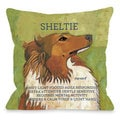 Sheltie Dog Throw Pillow