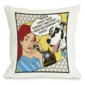 Size Matters Dog Theme Throw Pillow