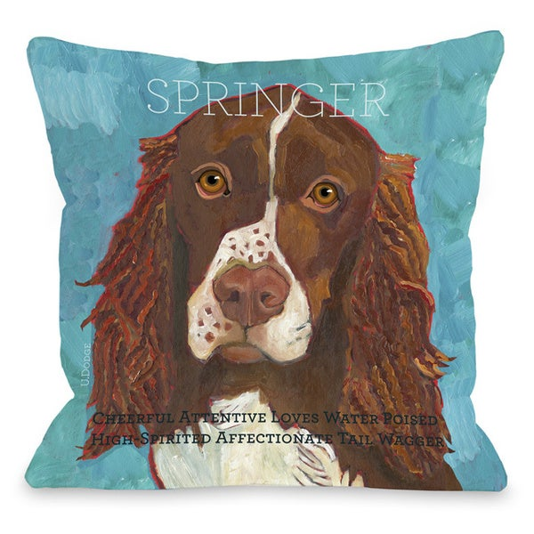 Springer Dog Themed Throw Pillow - 15736508 - Overstock.com Shopping - Great Deals on Throw Pillows