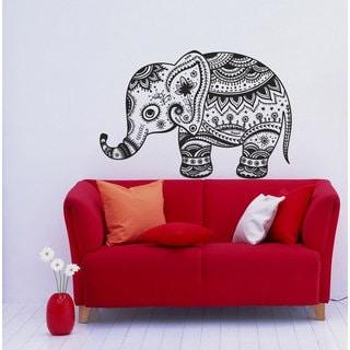 Vintage Indian Elephant Vinyl Wall Decal