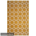 Hand-tufted 'Honeycomb' Polyester Rug (3'6 x 5'6)