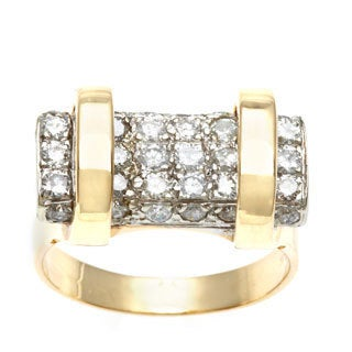 14k Yellow Gold 1 1/2ct TDW Diamond Bar Estate Ring (G-H, SI1-SI2)