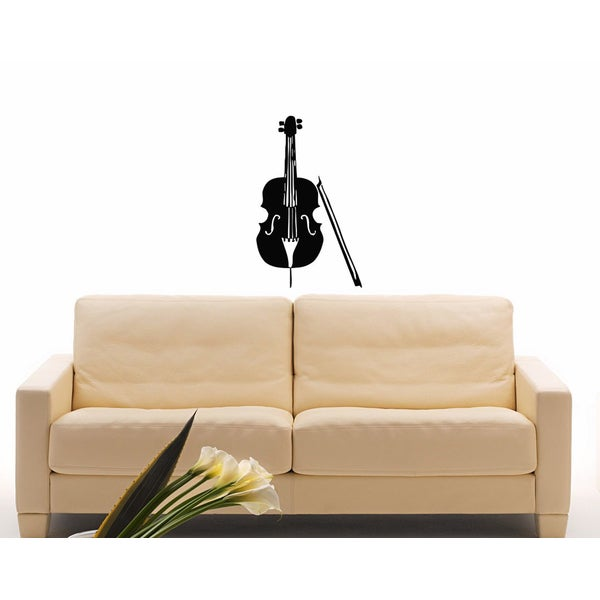 Cello Vinyl Wall Decal