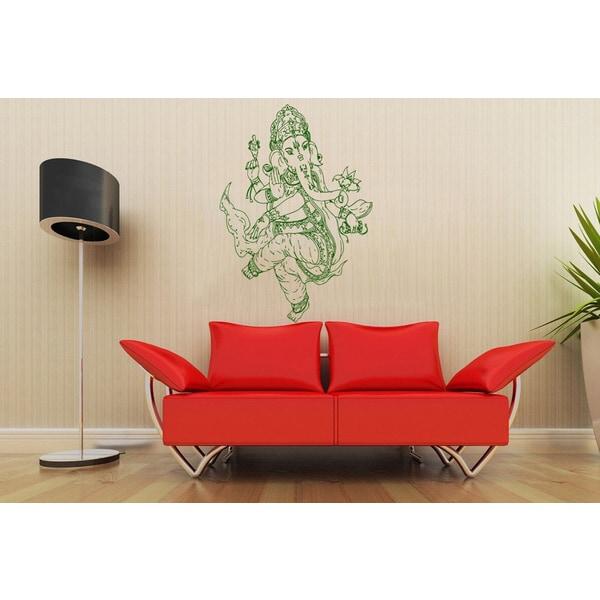 Ganesha, Elephant Lord of Success Vinyl Wall Decal