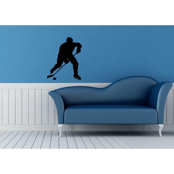 Hockey Player Vinyl Wall Decal