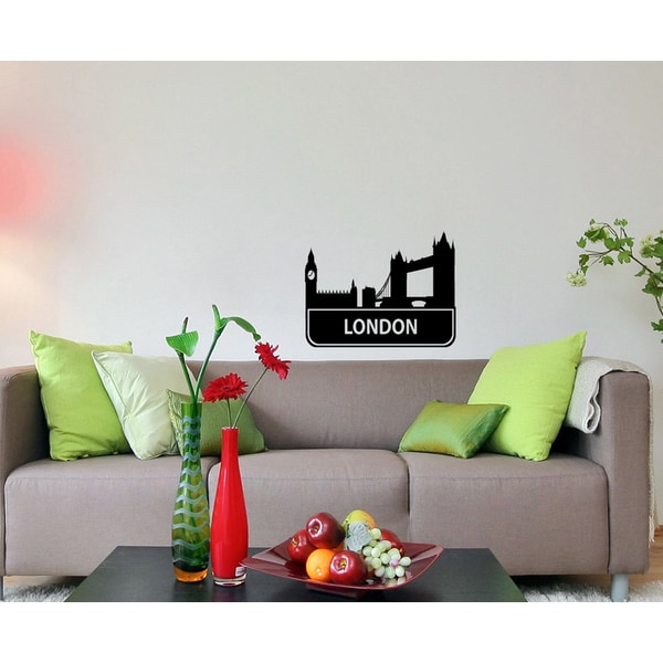 'London Sights Cities Of The World' Vinyl Wall Decal