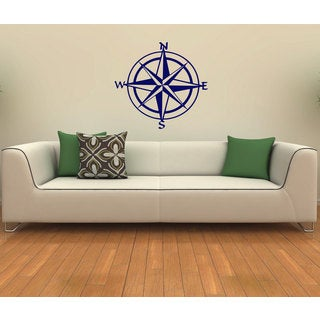 Nautical Compass Vinyl Wall Decal