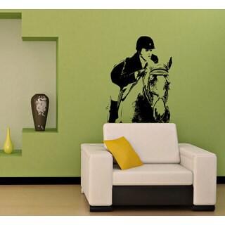 Jockey on a Horse Vinyl Wall Decal
