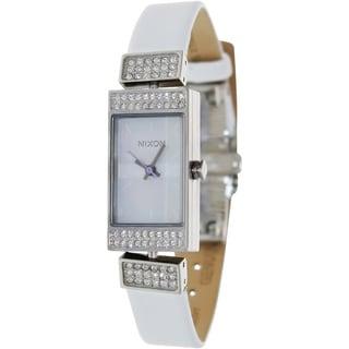 Nixon Women's Elle A305710-00 Silver Leather Quartz Watch with Grey Dial