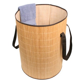 Richards Homewares Round Bamboo Laundry Hamper