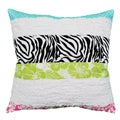 Lacey Zebra Stripe Decorative Pillow