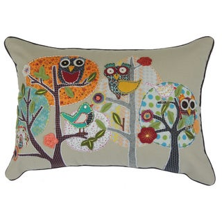 Osher Embroidered Nature Pillow