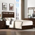 Dash Warm Espresso 2-drawer King/ Queen Platform Storage Bed