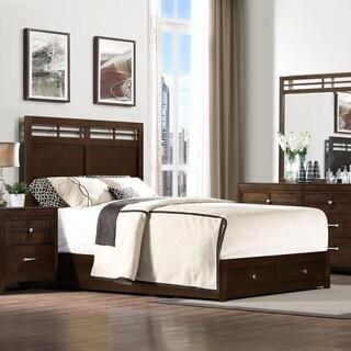 Dash Warm Espresso 2-drawer King/ Queen Platform Storage Bed