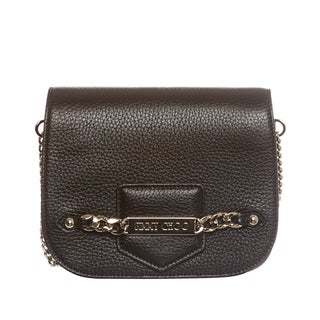 Jimmy Choo 'Shadow' Black Deerskin Chain Crossbody Bag