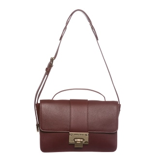 Jimmy Choo' Rebel' Large Claret Leather Shoulder Bag