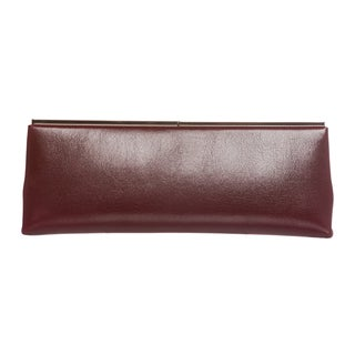 Jimmy Choo 'Ciggy' Claret Glossy Calf Leather Clutch