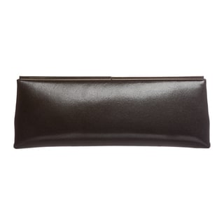Jimmy Choo 'Ciggy' Black Glossy Calf Leather Clutch