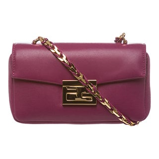 Fendi 'Be' Fuchsia Leather Mini Baguette Bag