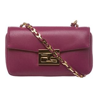Fendi 'Be' Fuchsia Leather Mini Baguette Bag