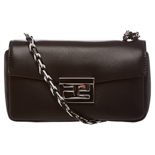 Fendi 'Be' Black Leather Mini Baguette Bag
